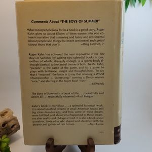 Vintage Accents - VTG Book 1971 First Edition The Boys of Summer